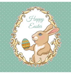 Frame rabbit easter vector image