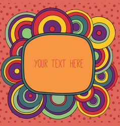 Frame with a place for your text vector