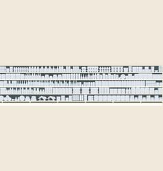 full shelves meals silhouette vector image