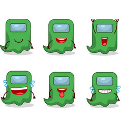 Ghost among us green smile expression vector