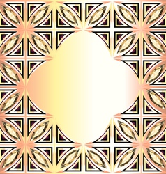 Golden background with geometric designs and preci vector