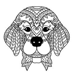 Golden puppy vector