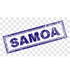 Grunge samoa rectangle stamp vector