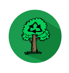 hand drawn tree icon vector image