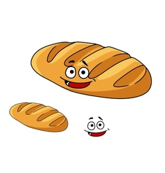 Happy baked crusty French baguette vector image