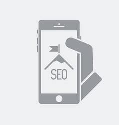 High seo success on smartphone vector