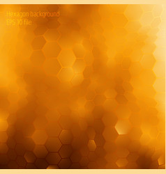 Honey geomertic background with honeycombs forms vector