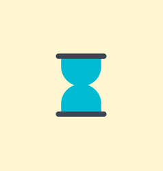 hourglass icon flat element vector image
