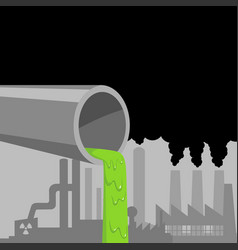 Industrial waste pipe vector