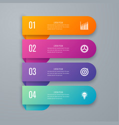 Infographics four options vector