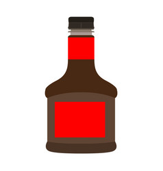 isolated soy bottle vector image