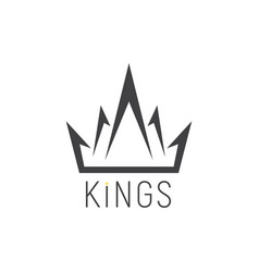 king logo crown emblem vector image