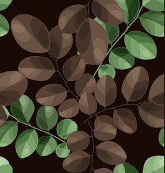 Leaf seamless patter vector