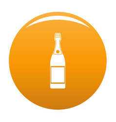 Luxury champagne icon orange vector