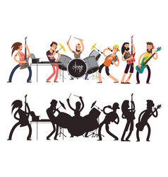 music performance with young musicians rock vector image