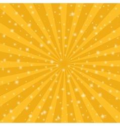 Orange sun vintage background Rays star burst vector image