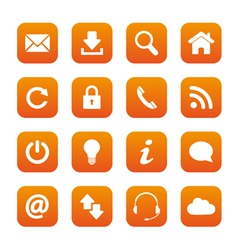 Orange web buttons vector image