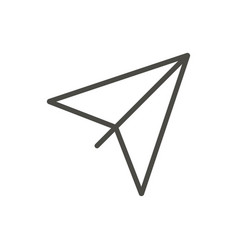 paper plane icon outline airplane line or vector image