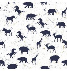 Pattern animals sillhouette vector