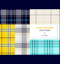 plaid pattern collection vector image