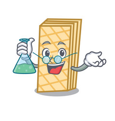 Professor waffle character cartoon style vector