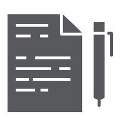 quiz glyph icon school and education exam sign vector image