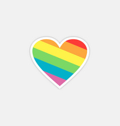 rainbow love logo vector image
