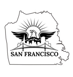 San francisco map vector