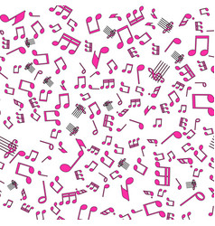 seamless music notes pattern vector image