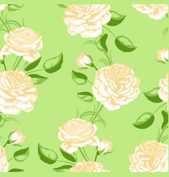 seamless pattern with yellow roses beautiful vector image