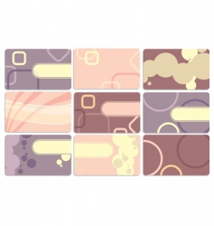 Set of cute business cards vector