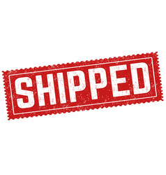 shipped grunge rubber stamp vector image