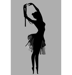 Silhouette of a ballerina standing in a pose vector