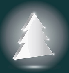 Silver fir 3 d on a gray background new year vector