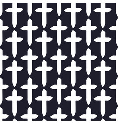 simple crosses pattern minimalistic seamless vector image
