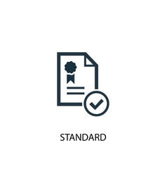 Standard icon simple element vector