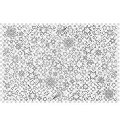 stars doodle set vector image