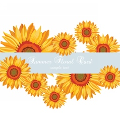 Sunflower Summer poster card vector image