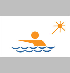 swimming from collection the sports vector image