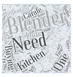 The Blender Buying Guide Word Cloud Concept vector