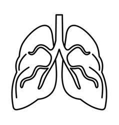tuberculosis lungs icon outline style vector image