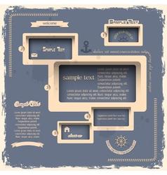 Web design template in Retro style vector image vector image