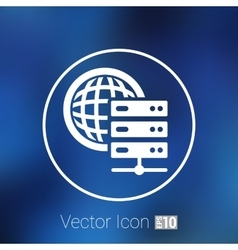 Planet Server icon symbol design workstation world vector image vector image