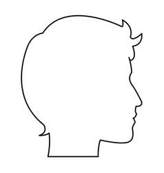 profile silhouette head man male avatar vector image
