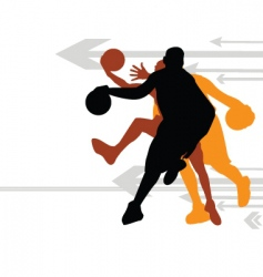 basketball direction vector image vector image