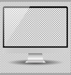 blank monitor screen computer mockup vector image