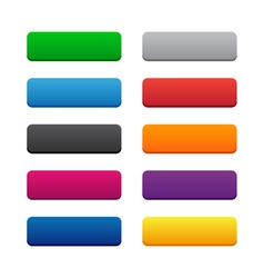 Blank web buttons vector image vector image