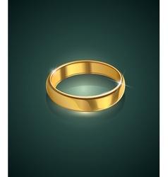 golden wedding ring vector image vector image