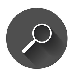 loupe icon magnifier in flat style search sign vector image