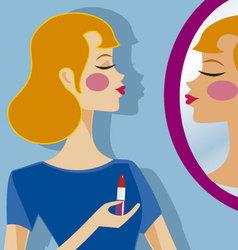 makeup 2 vector image